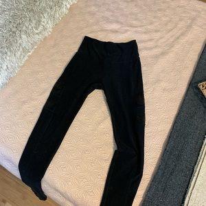 Beyond Yoga Pants - Beyond Yoga High Striped Mesh Leggings